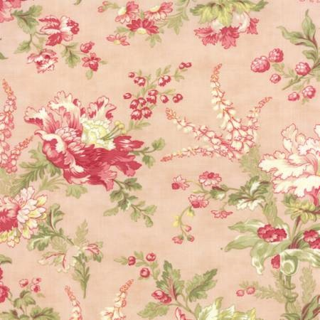 Whitewashed Cottage by 3 Sisters for Moda Fabrics - Floral Flourish Pink 44061-12
