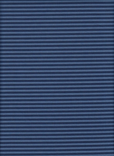 Yesterday Once More by Palette Pleasure Basics for A Day in the Country - Tone on Tone 1/8in (3mm) Stripe - Navy