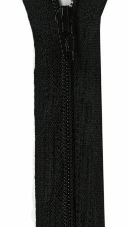 Ziplon Coil Zipper 22in Black from YKK
