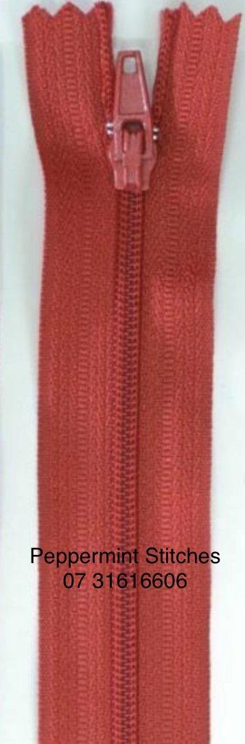 Dress Zip 60cm Dark Red
