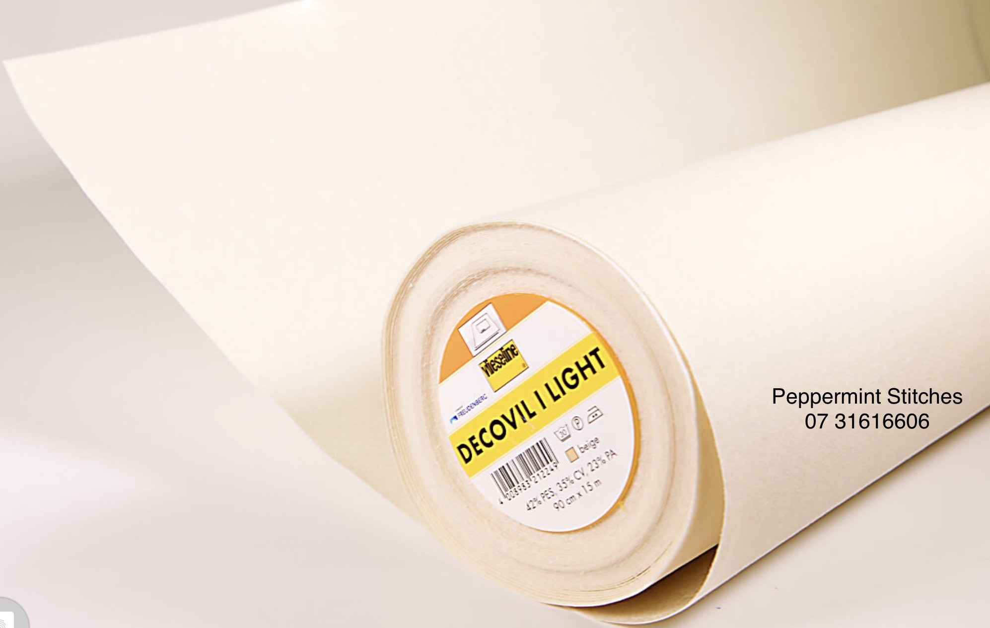 Decoville Light - Lightweight Fusible interlining used in bags, crafting, book covers, many other uses