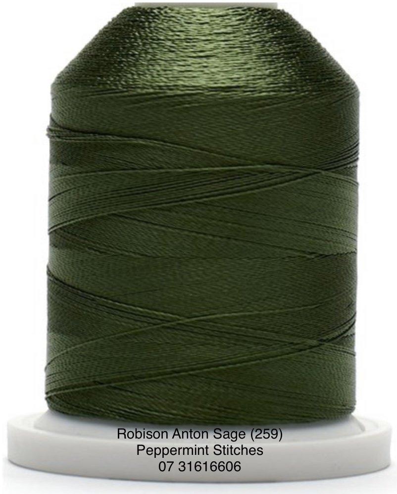 Robison Anton Sage (2595) Rayon Machine Embroidery Thread 40wt 1000m