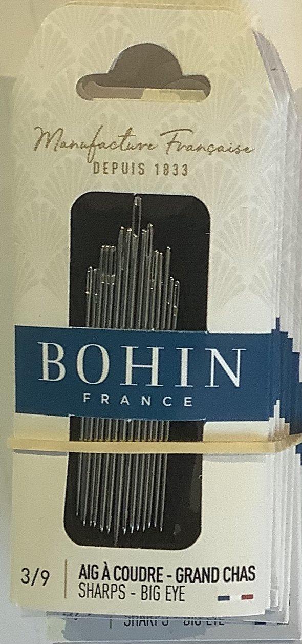 Bohin Needles Sharp Big Eye assorted sizes 3/9