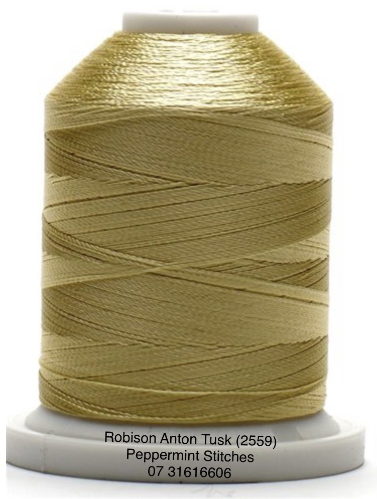 Robison Anton Tusk (2559) Rayon Machine Embroidery Thread 40wt 1000m