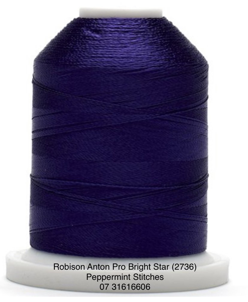 Robison Anton PRO BRIGHT STAR (2736) Rayon Machine Embroidery Thread 40wt 1000m