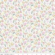 Easter Egg Hunt for Riley Blake Floral White