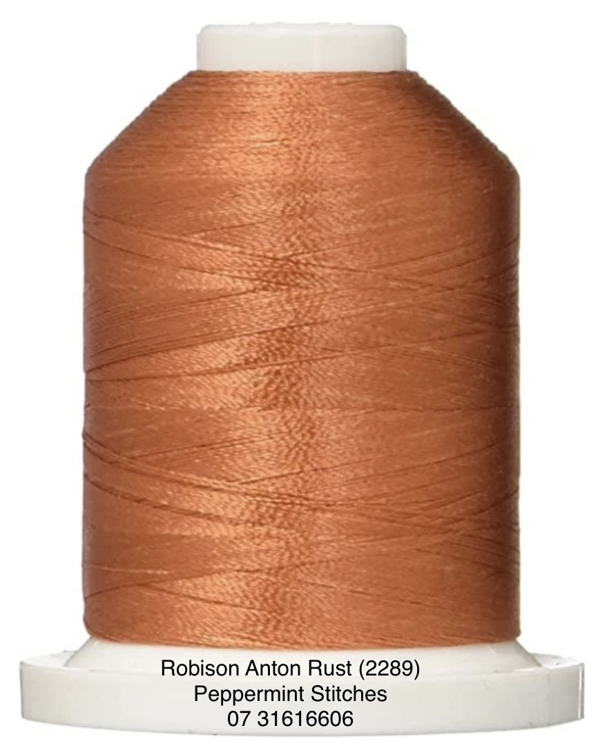 Robison Anton RUST (2289) Rayon Machine Embroidery Thread 40wt 1000m