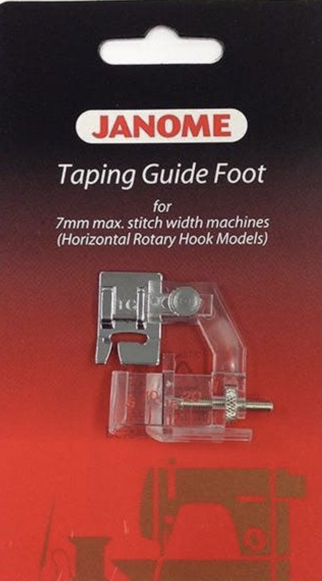 Janome Taping Guide Foot 7mm Machines