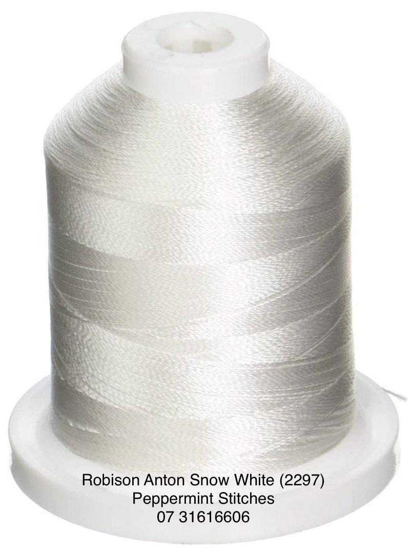 Robison Anton Snow White (2297) Rayon Machine Embroidery Thread 40wt 1000m