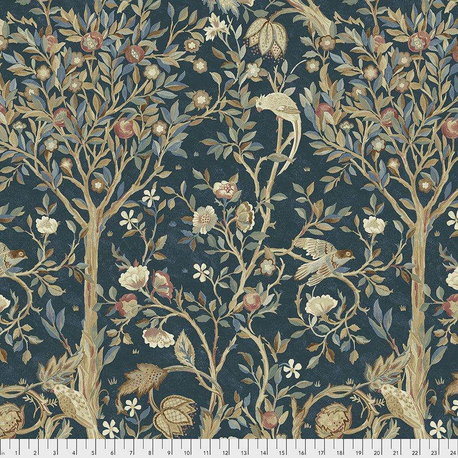 Orkney by William Morris & Co for Free spirit Fabrics - Melsetter - Indigo PWWM041-INDIGO