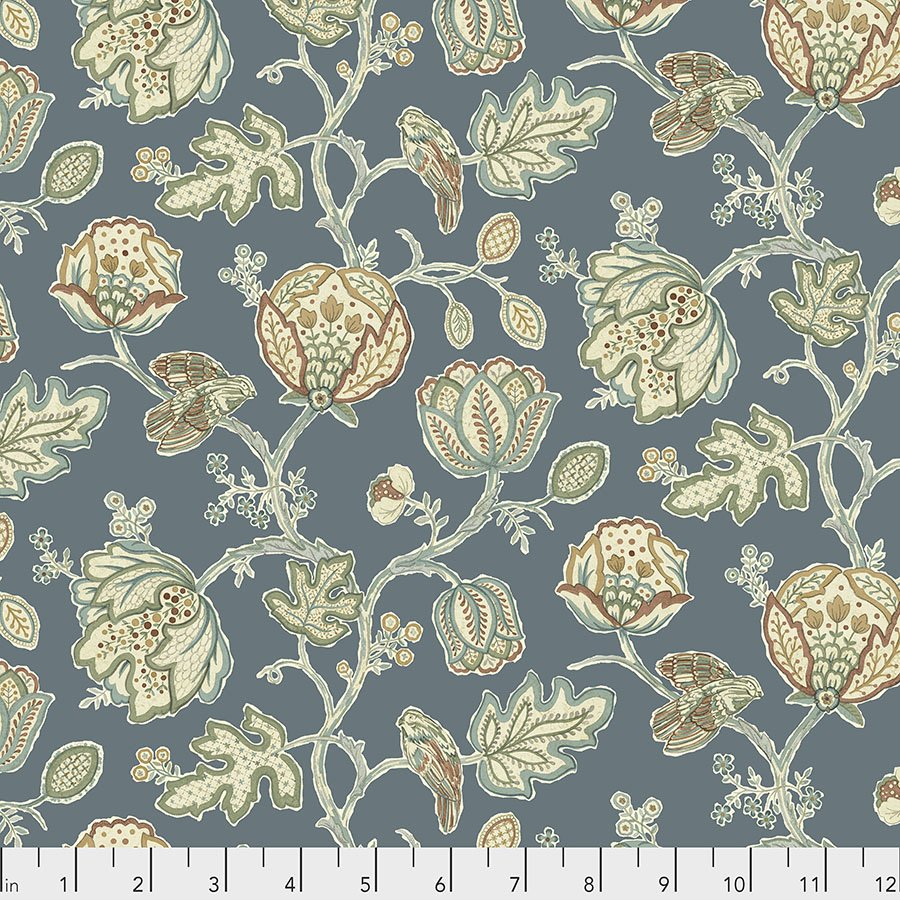 Orkney by William Morris & Co for Free spirit Fabrics - Theodesia Blue - PWWM043-BLUE