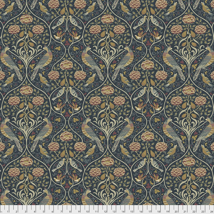 Orkney by William Morris & Co for Free spirit Fabrics - Seasons by May - Indigo - PWWM044-INDIGO