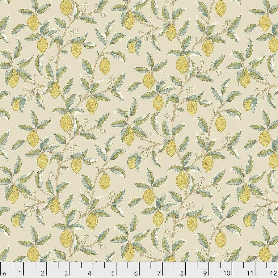 Orkney by William Morris & Co for Free spirit Fabrics - Lemon Tree Linen - PWWM047-LINEN