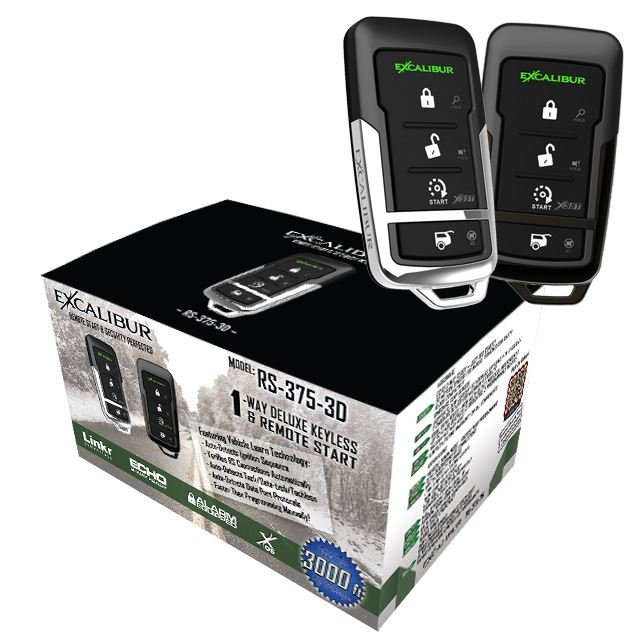 3000' 1 Way, 4 Button Remote Start System w/ Installation