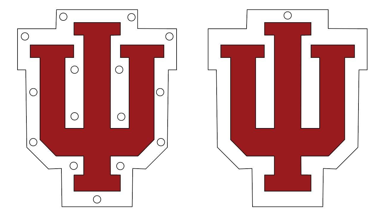 Acrylic IU Logo - Various Sizes