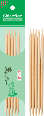Natural Bamboo - 6 Double Pointed Needles - 1016