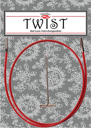 TWIST Red Lace Cables