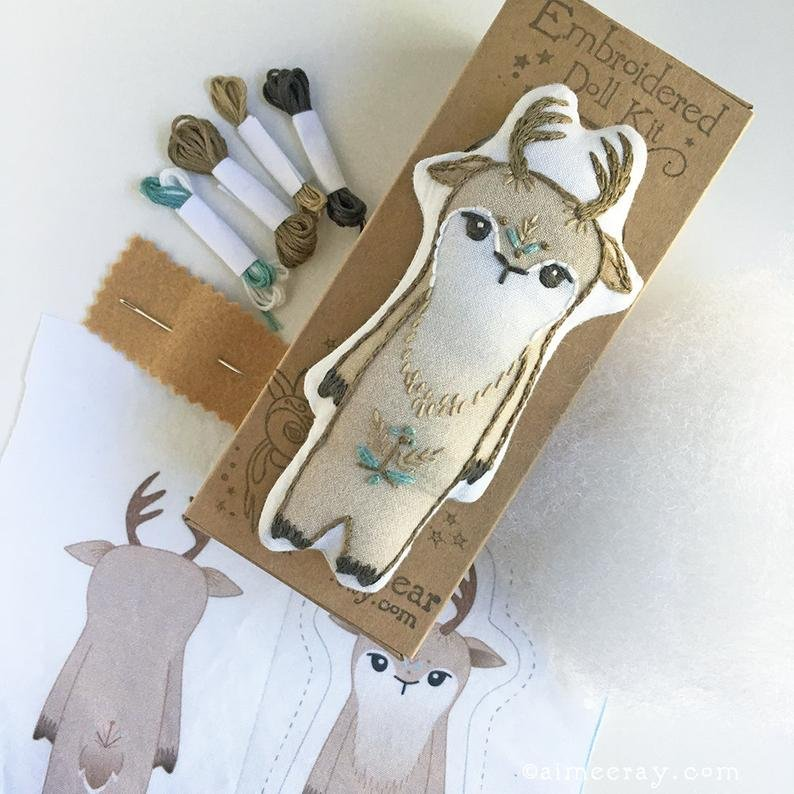 Hand Embroidery Doll Kits