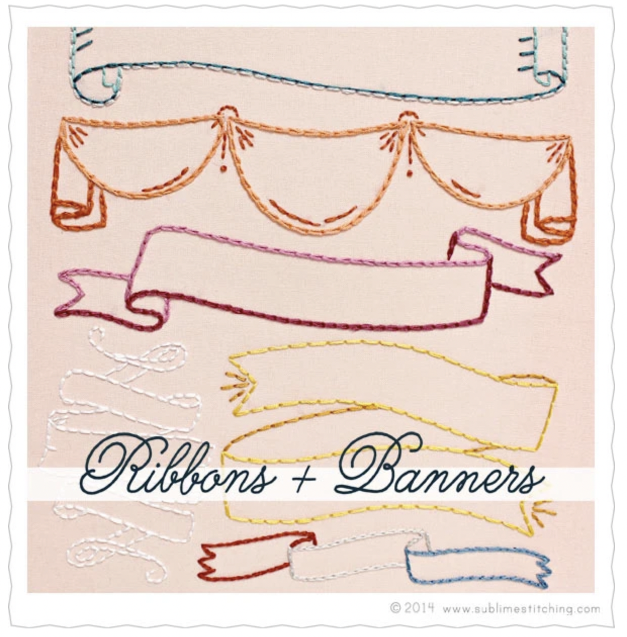 Embroidery Transfers - Ribbons and Banners