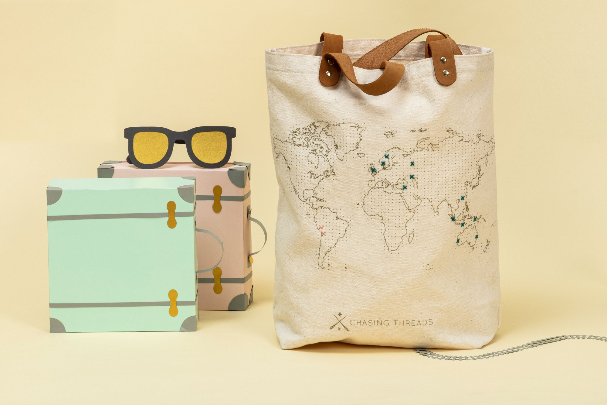 Stitch Where You've Been Canvas Tote Kit