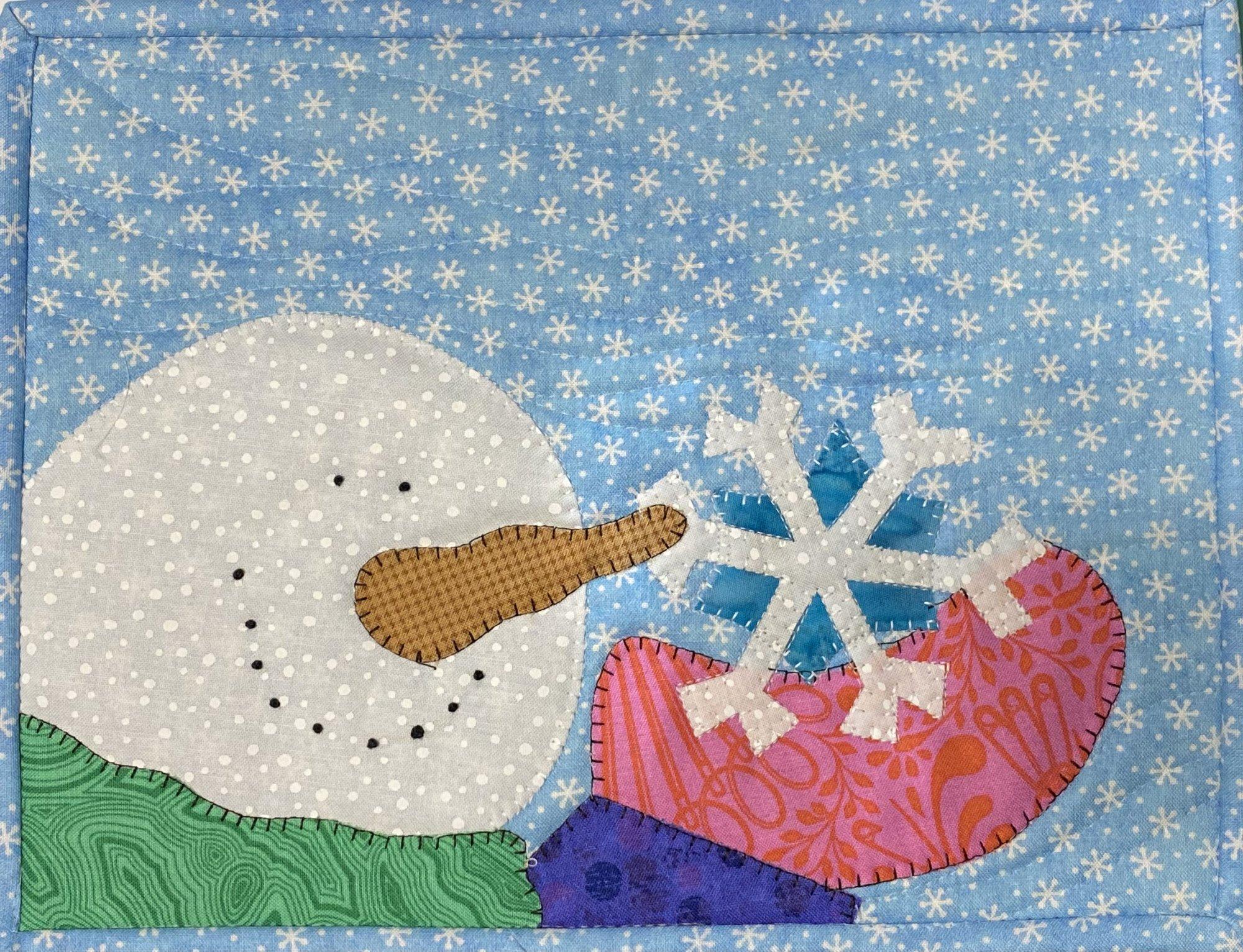 Snowflake Mug Rug