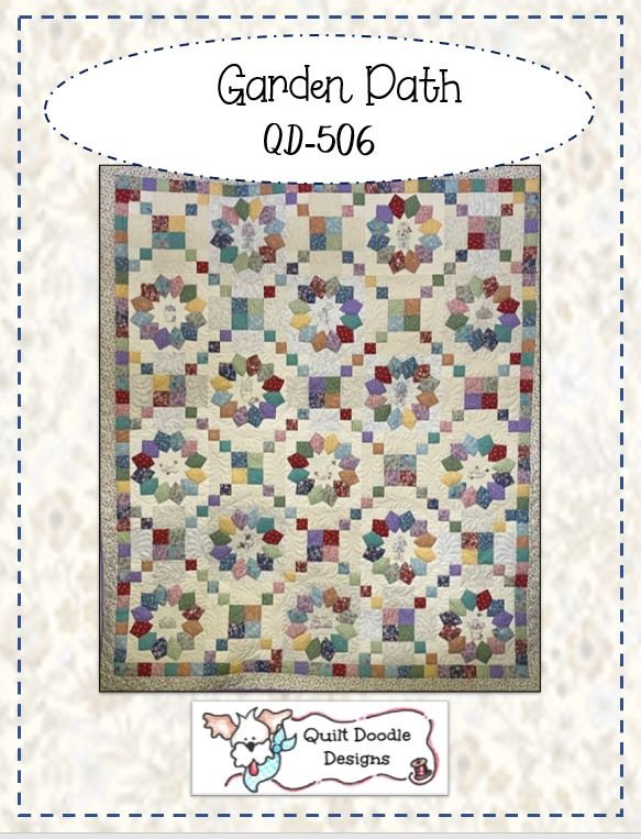 Garden Path packaged quilt pattern by Quilt Doodle Designs