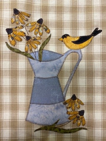 Goldfinch PDF pattern for fusible applique