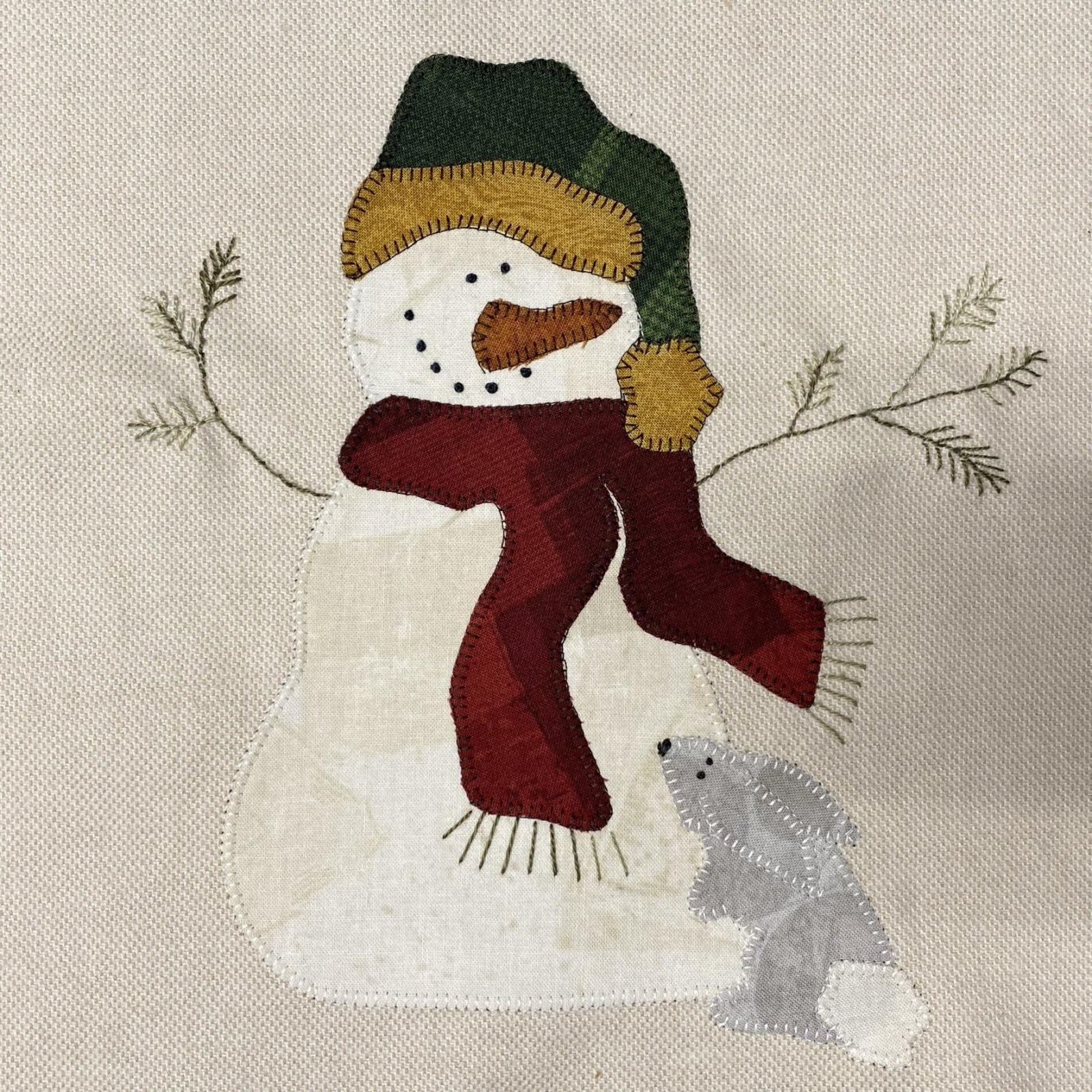 Woodland Snowman Octobers Block