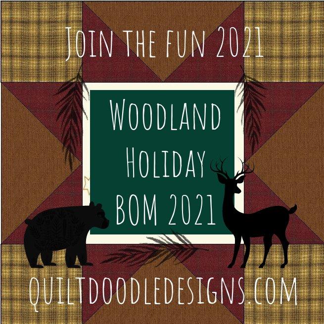 Woodland Holiday BOM 2021 Fabric Kit