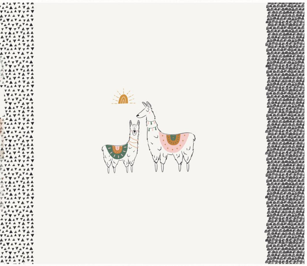AGF Pacha PAC-PA-1412 I Love You a Llama Panel