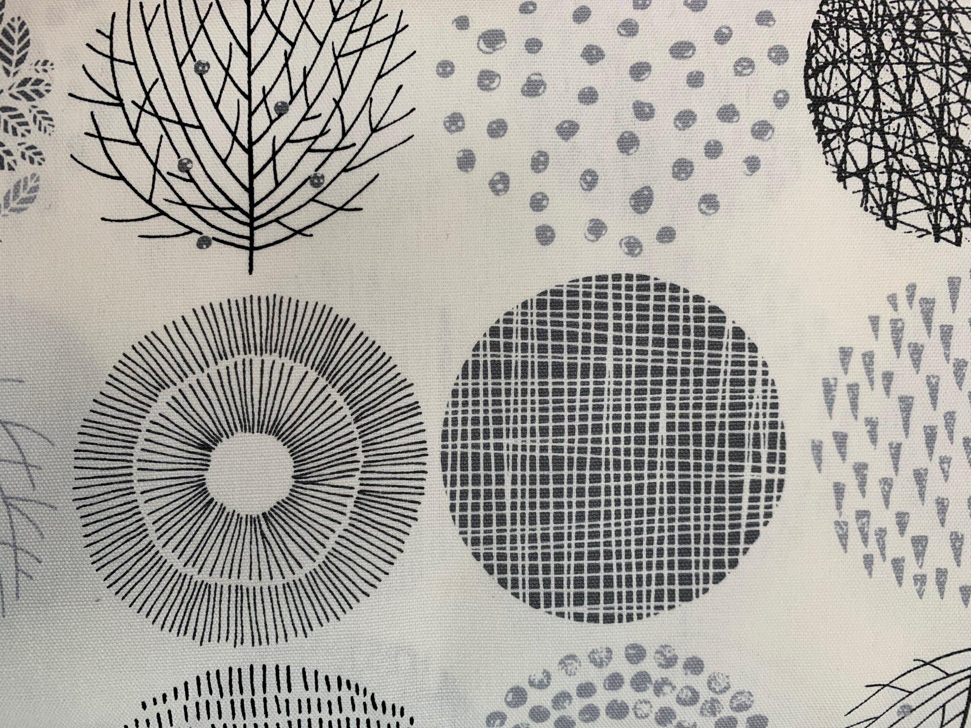 Cosmo large tree/circles black/white