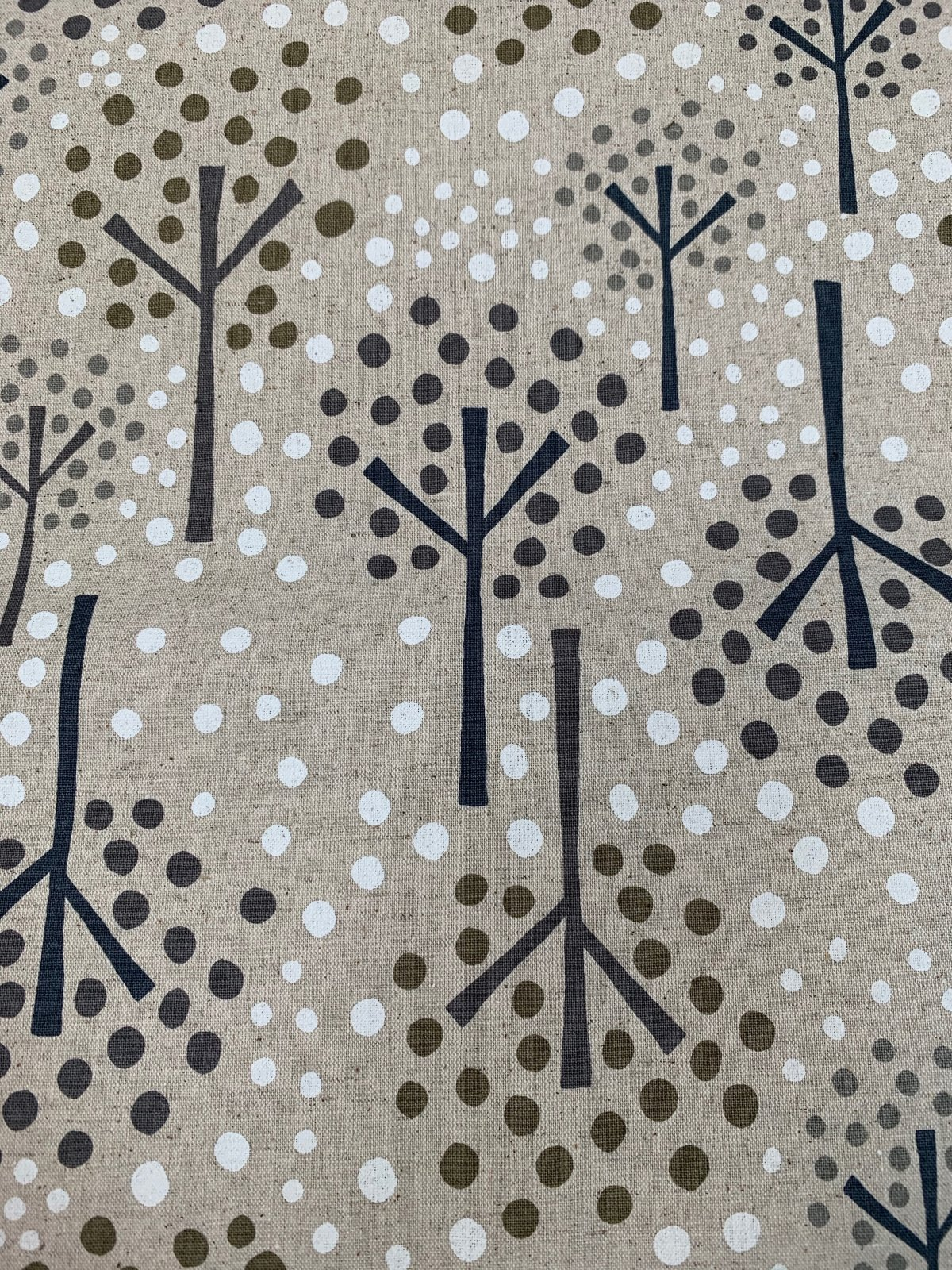 Cosmo canvas trees/dots natural