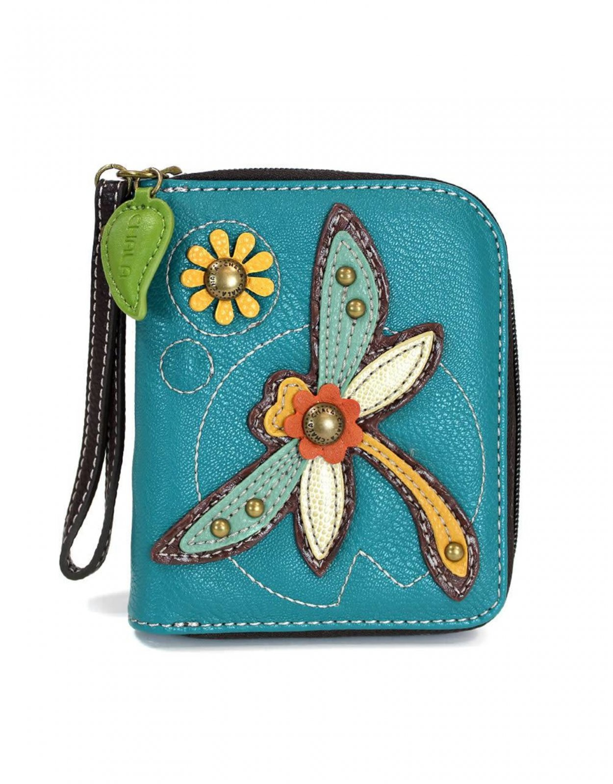 Chala Zip Around Wallet Dragonfly Turquoise