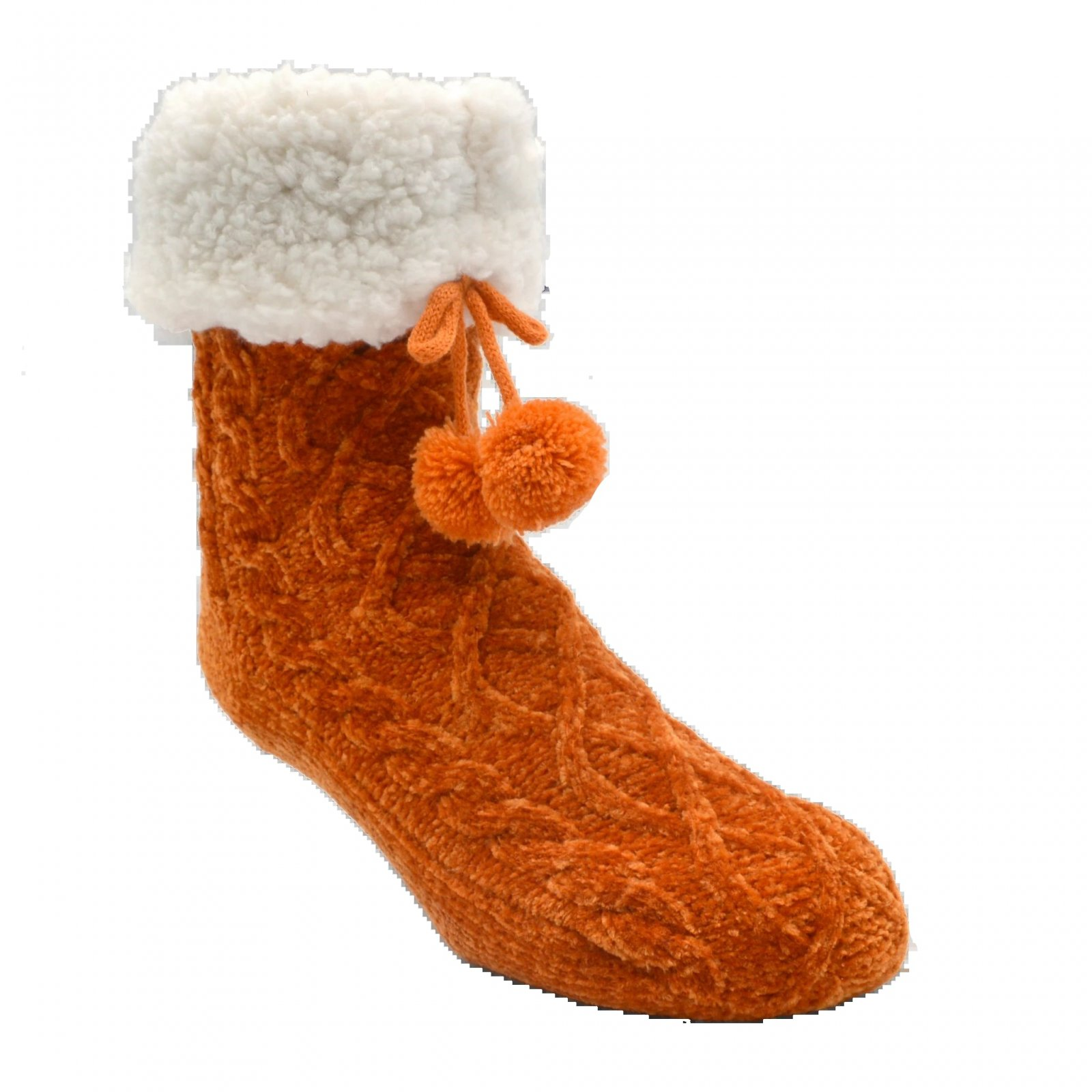 Chenille Cable Knit Classic Slipper Socks - Multiple Options