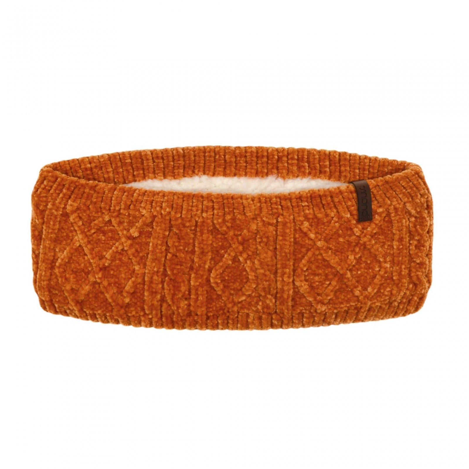Chenille Knit Headband   Peach Caramel