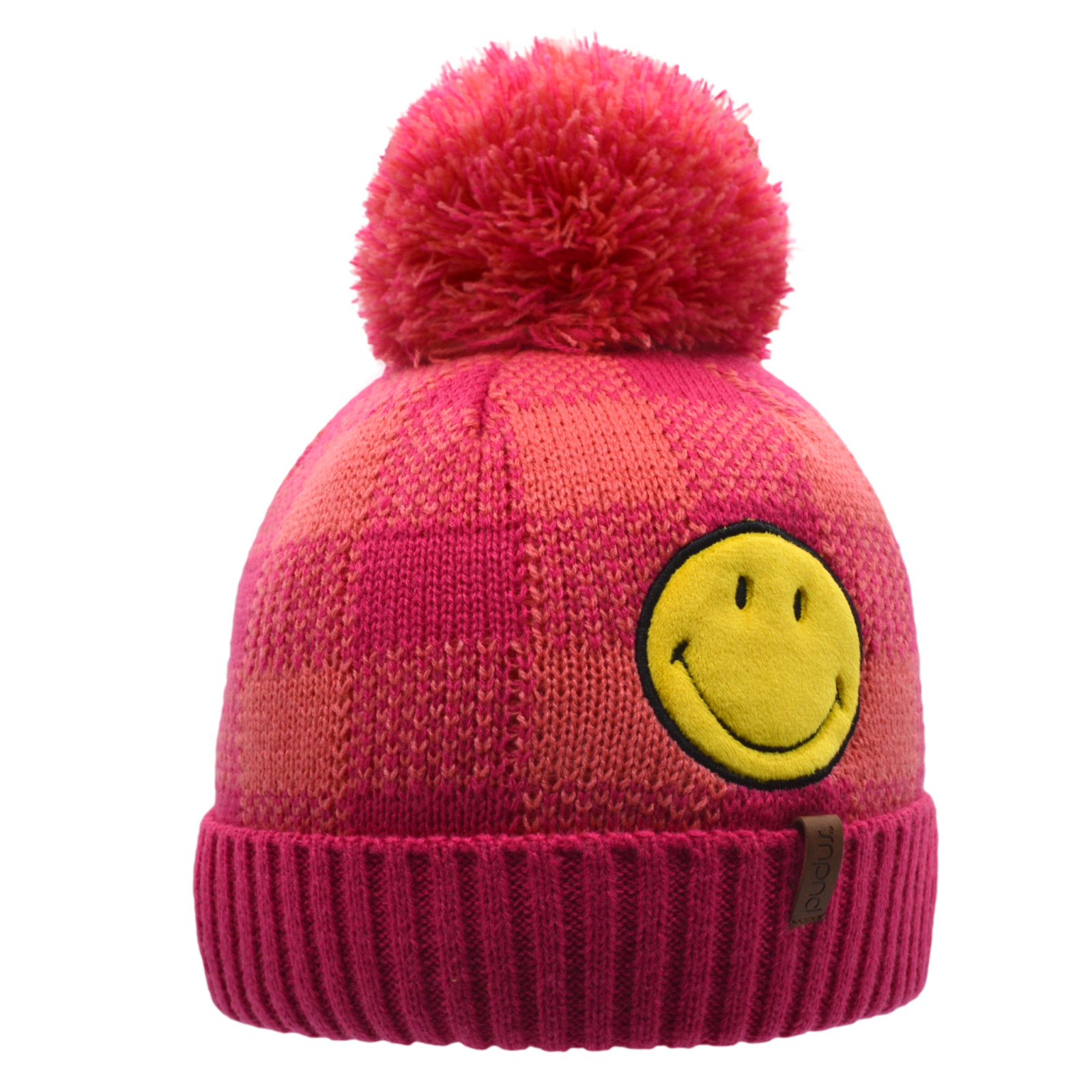 Smiley Beanie Hat | Pink Lumberjack