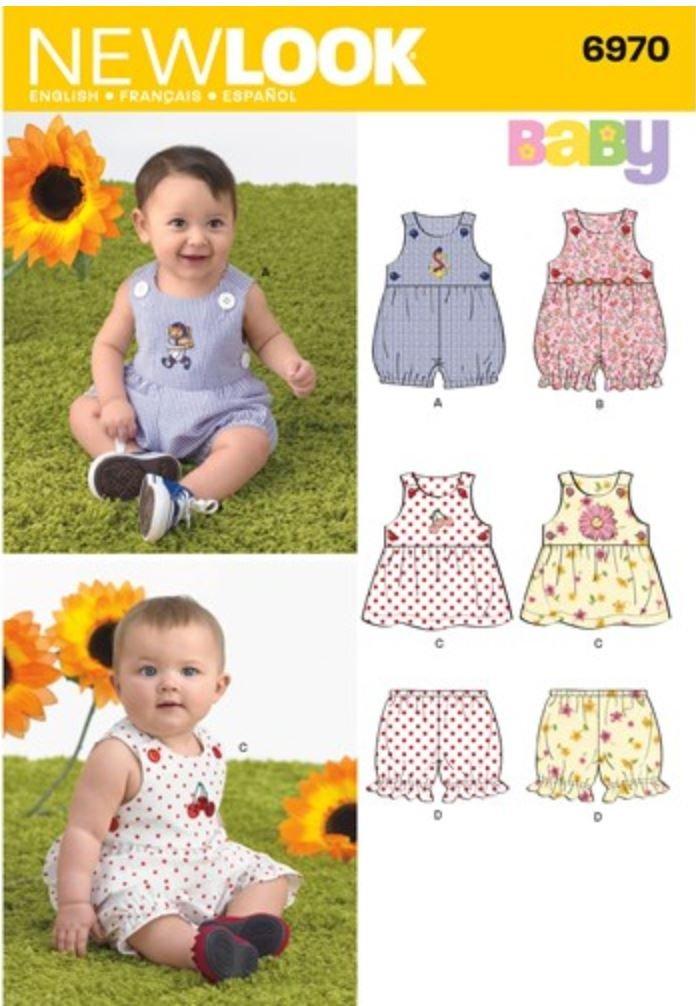 New Look Pattern 6970 Babies' Romper, Dress & Panties