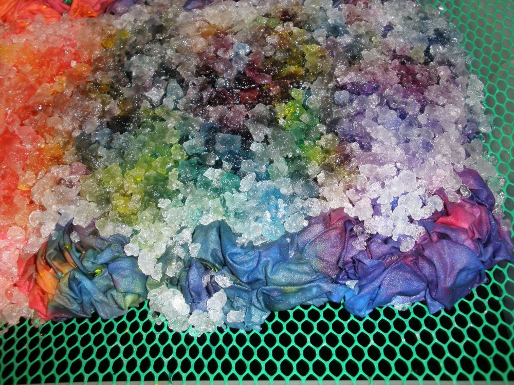 Snow dyed mandala 194