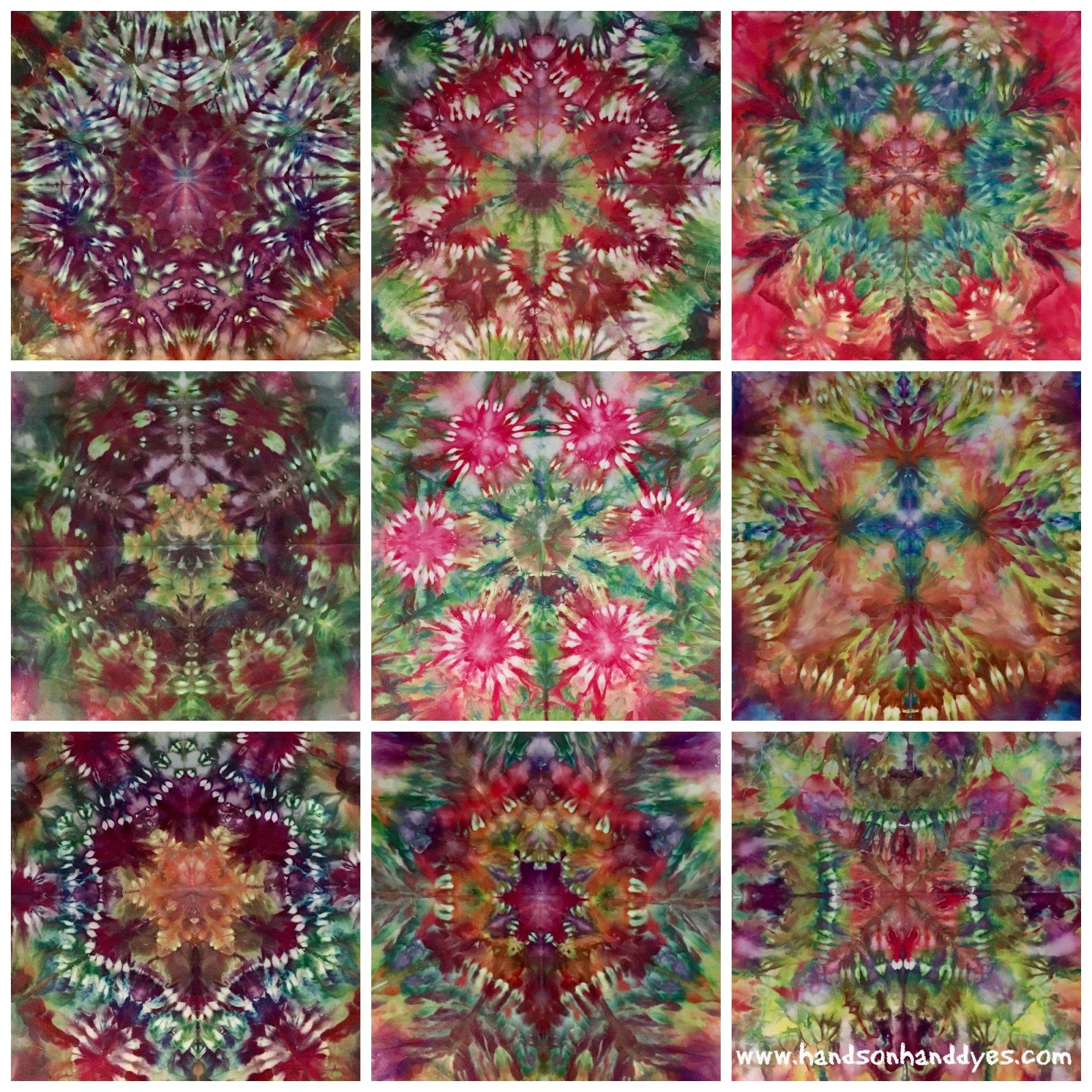 Magical Mini Mandalas - Ice Dyeing