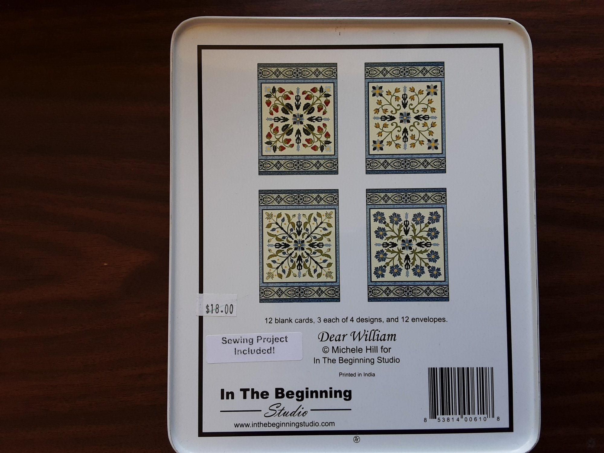 In The Beginning Blank Greeeting Cards Set (12 Cards & Envelopes)