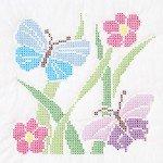 Butterflies Quilt Blocks 18'' x 18