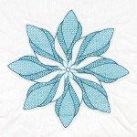 Floral Pinwheel Quilt Blocks 18 x 18