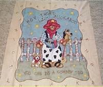 Buckaroo Baby Quilt Panel