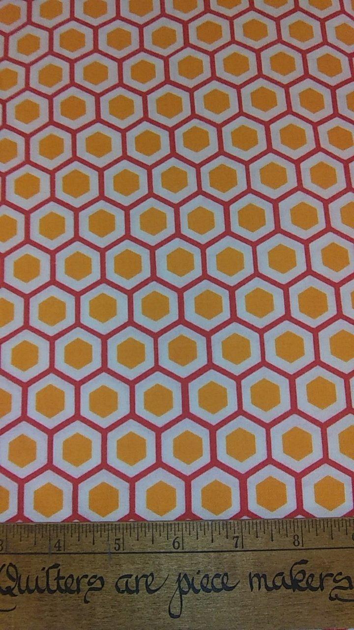 Mixed Bag Brushed - Orange Geometric