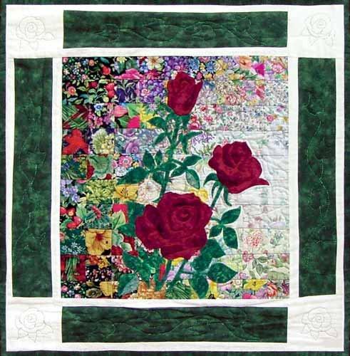 Watercolor Quilt Kits- Rose Block 7