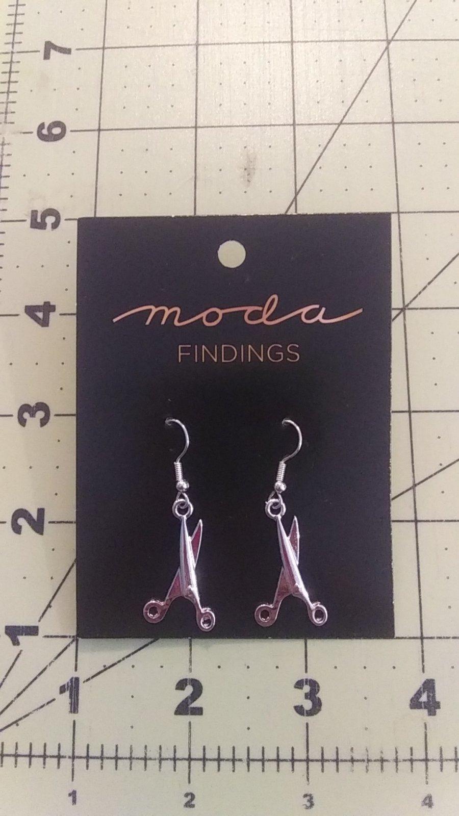 Earrings Scissor Silver