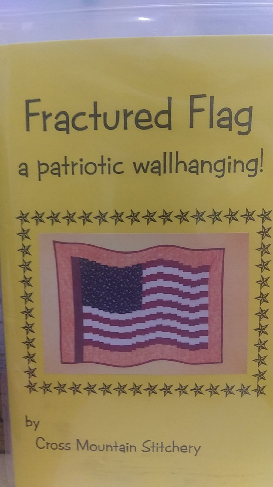 Fractured Flag a patriotic wallhanging