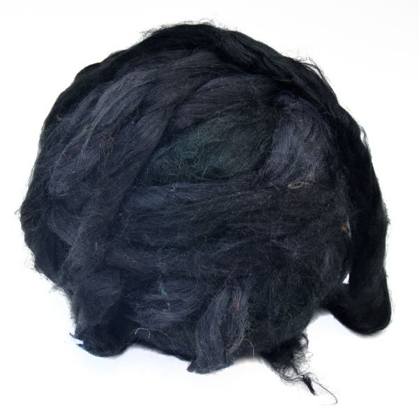 Silk dyed black