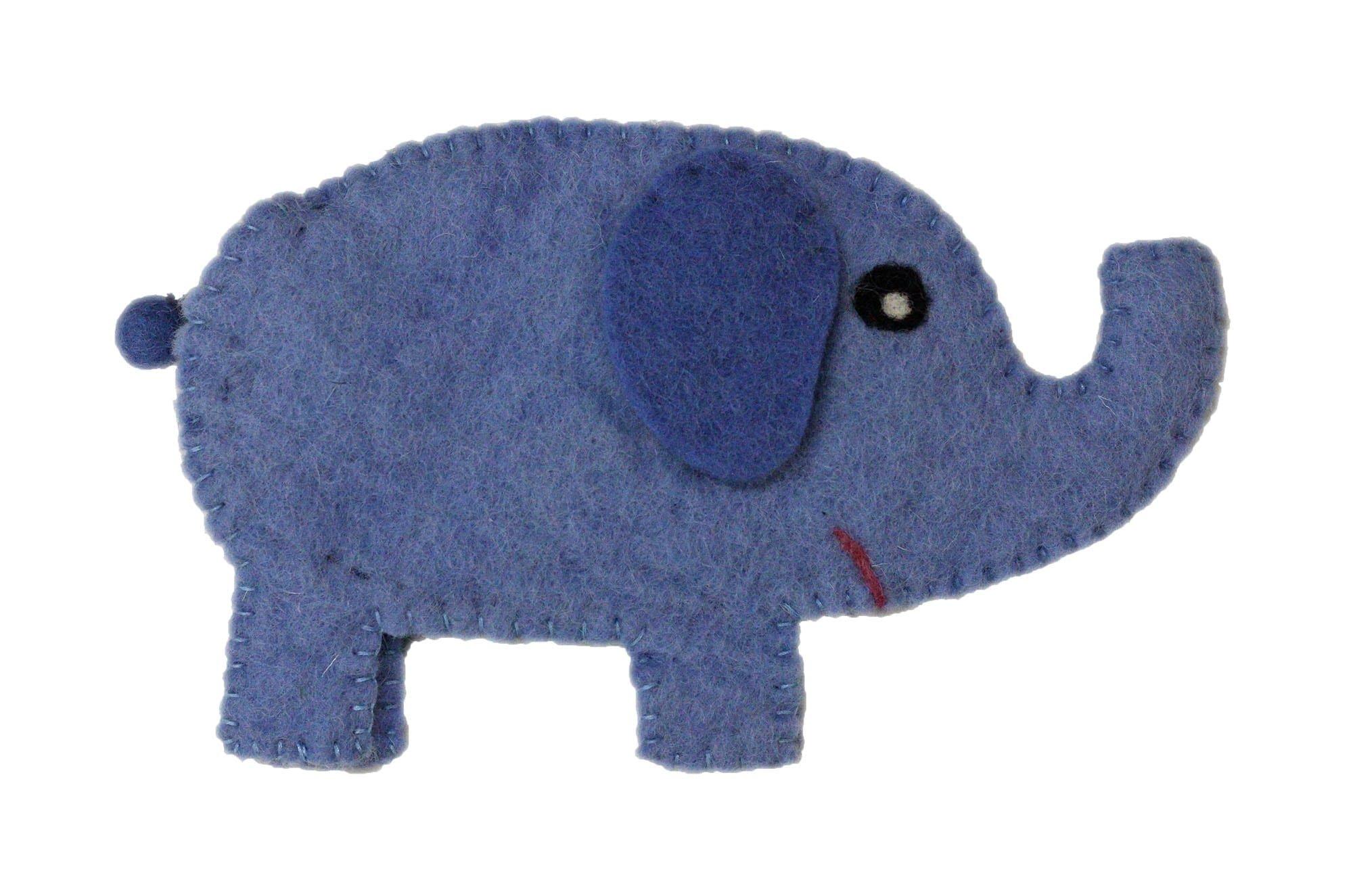 Felted Elephant notions bag