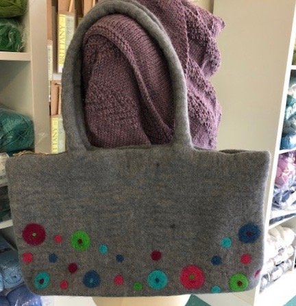 Felted Knitting bag